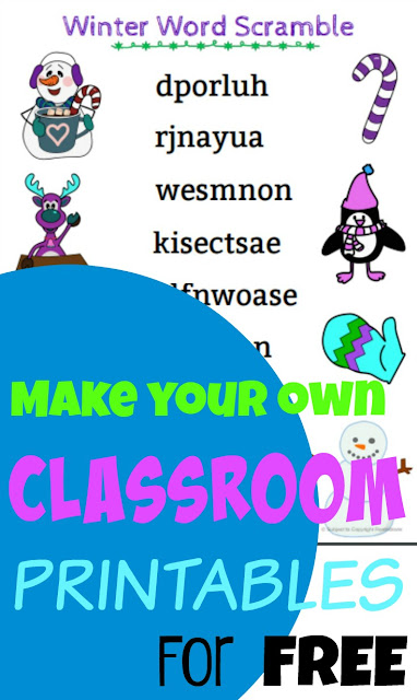Editable Printable Curriculum