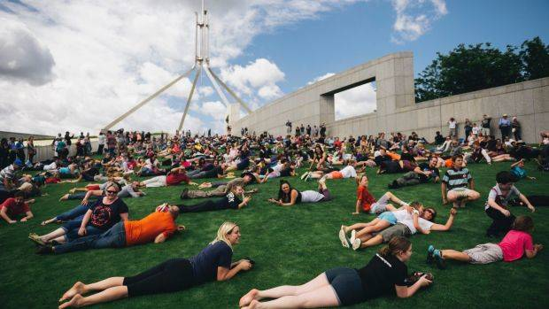 Australia's Parliament House Roll: Up To 700 Tumbles Down For The Last Time