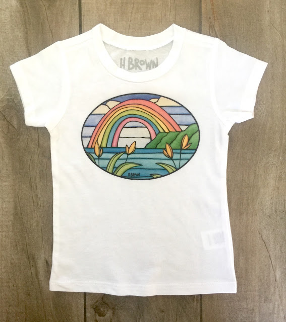 surf art kids tee shirt by heather brown
