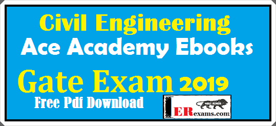 Update 2018 Ace Academy Civil Notes For Gate IES PSU Exam 2019 Free Pdf Download