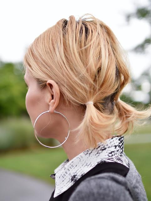 oversized hoop earring