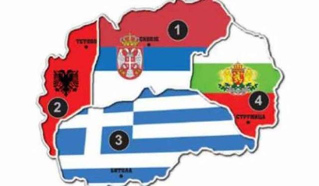 Griechische Zeitung teilt Makedonien unter Nachbarn auf