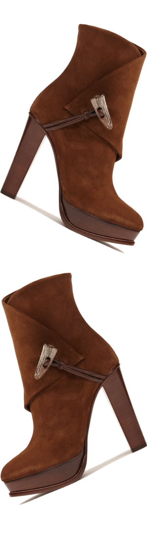 Ralph Lauren Horn-Toggle Suede Boot