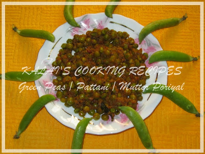 Green Peas / Pattani / Mutter Poriyal