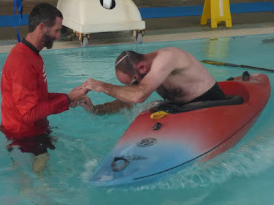 Kayak Roll Lesson in the Pool