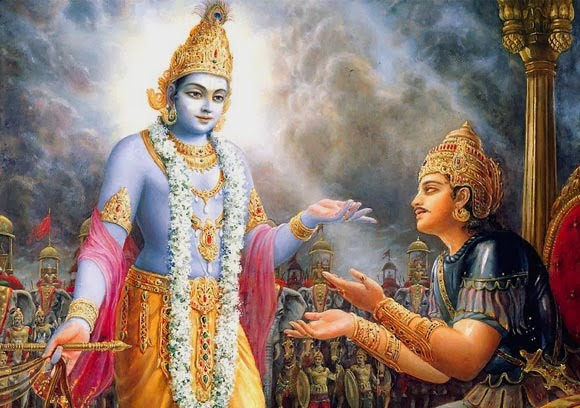 Image result for Krishna Arjuna