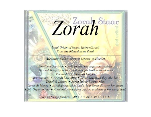 Meaning of the Hebrew female name Zorah is golden dawn
