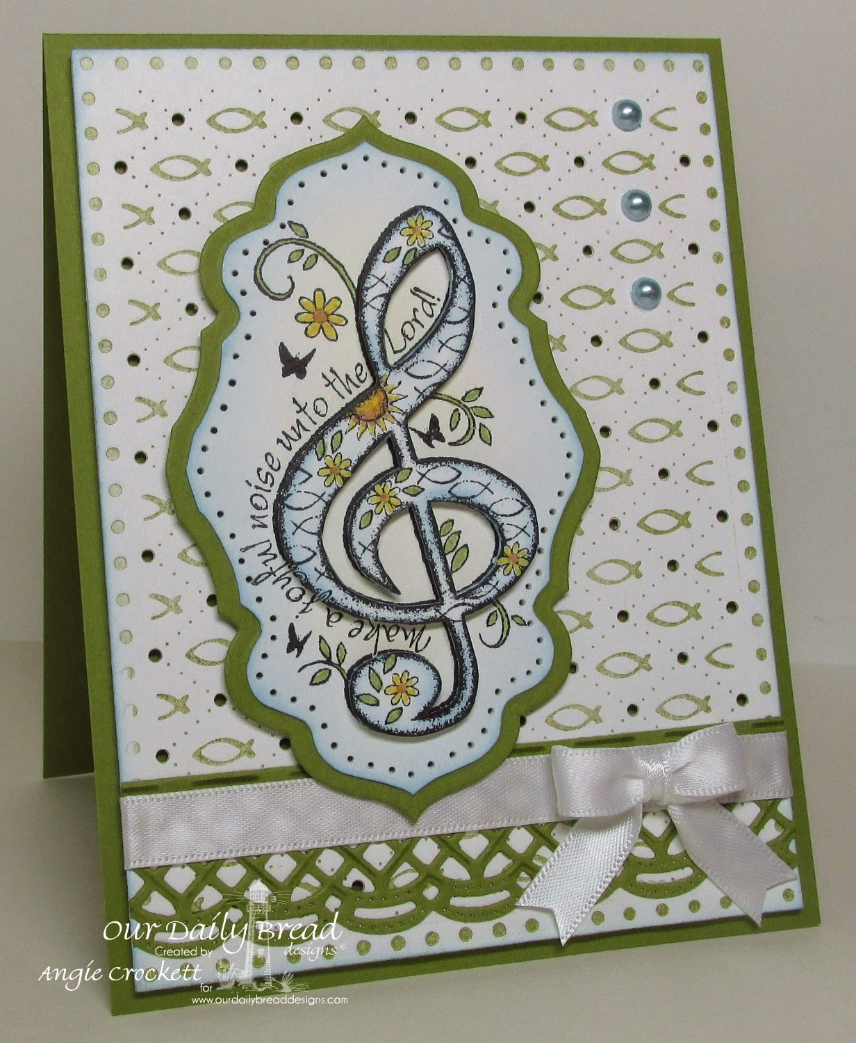 ODBD Just A Note, ODBD Custom Beautiful Borders Dies, ODBD Custom Antique Labels and Border Dies, ODBD Faithful Fish Pattern Die and Debossing Plate, Card Designer Angie Crockett