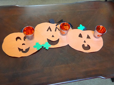 Jack-o-Lantern Table Runner