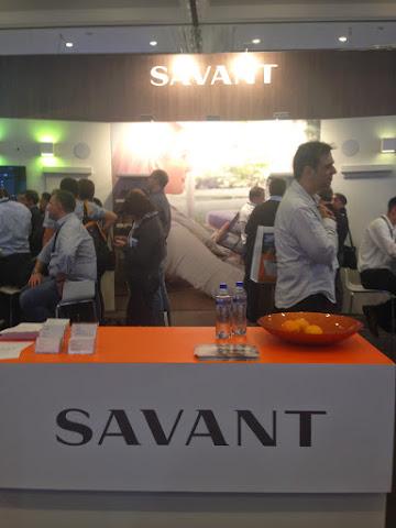 圖說: Savant 智慧家庭攤位,圖片來源: 筆者手機