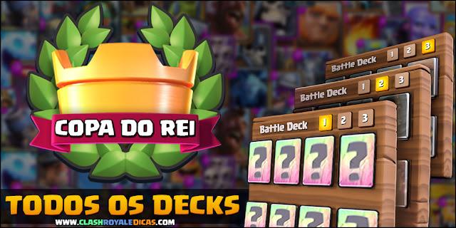 Todos os decks do Desafio Especial Copa do Rei