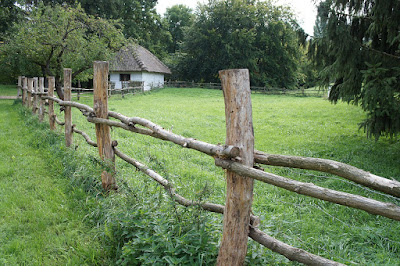 country farm and fence