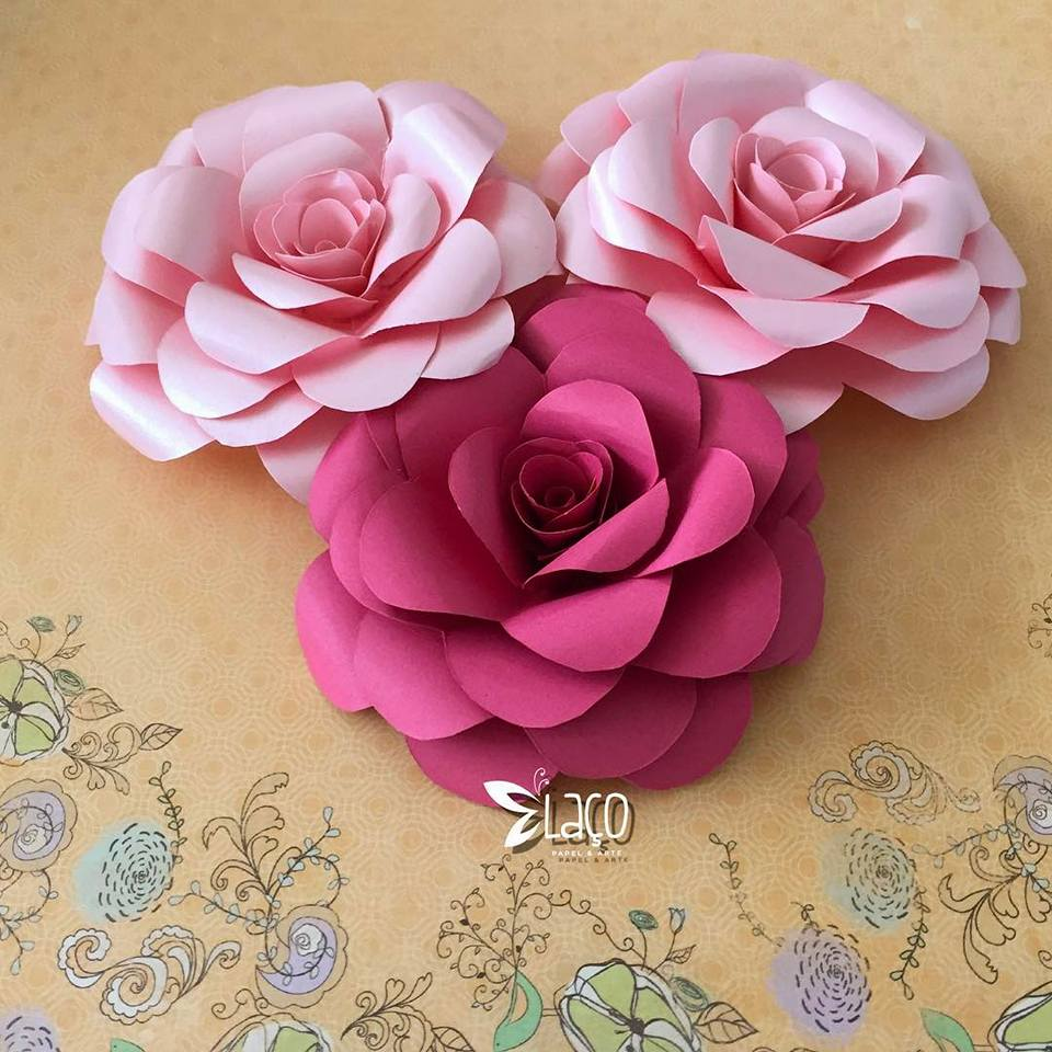 Flores Gigantes de Cartolina com molde Como Faço