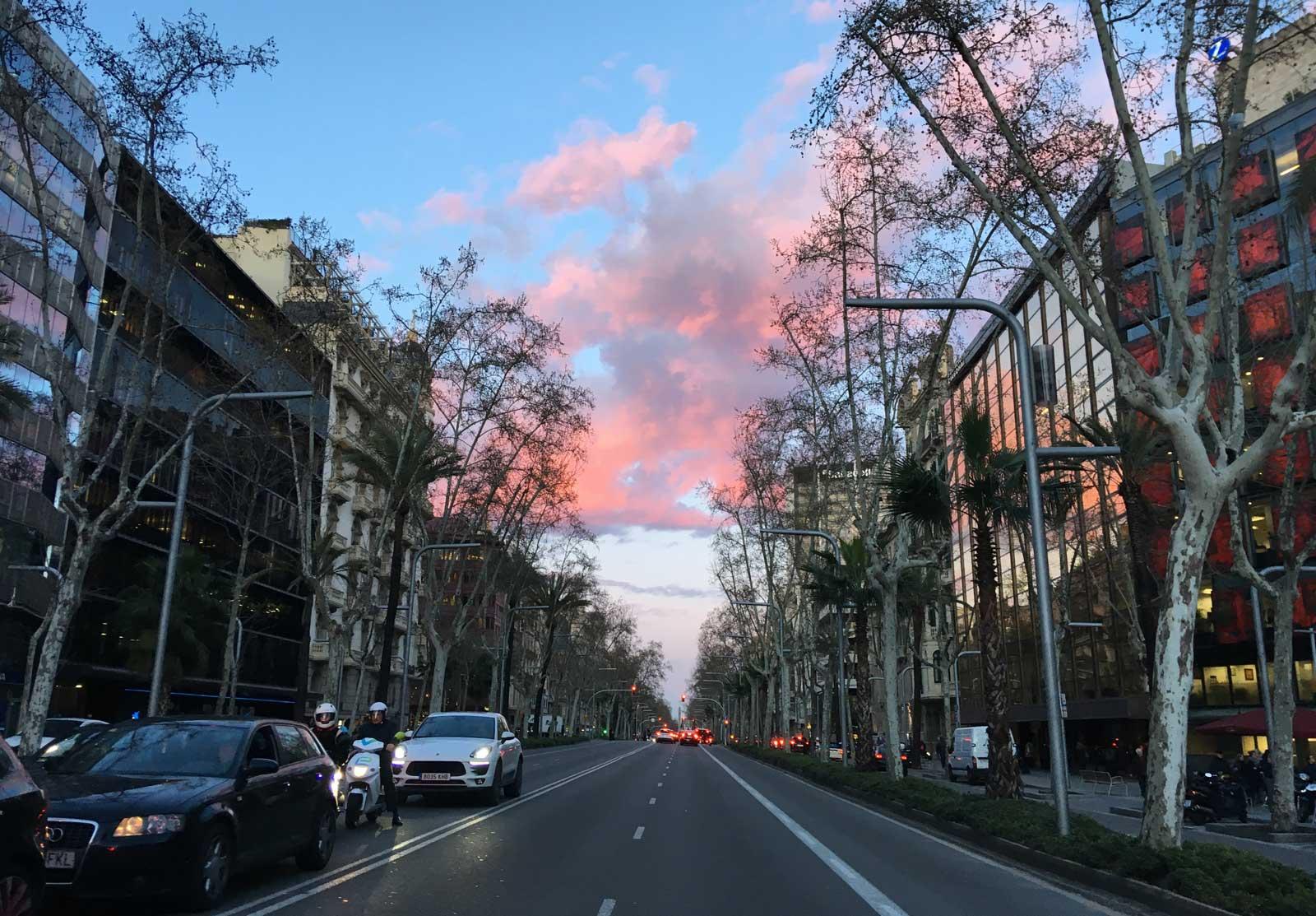 Cruzando Diagonal/Aribau. Barcelona, 20 marzo 2018