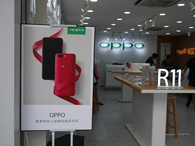 Oppo promotion at an Oppo store