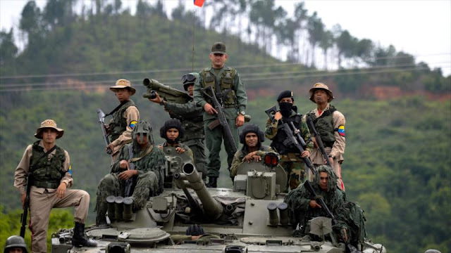Fuerzas venezolanas muestran su poderío militar a EEUU