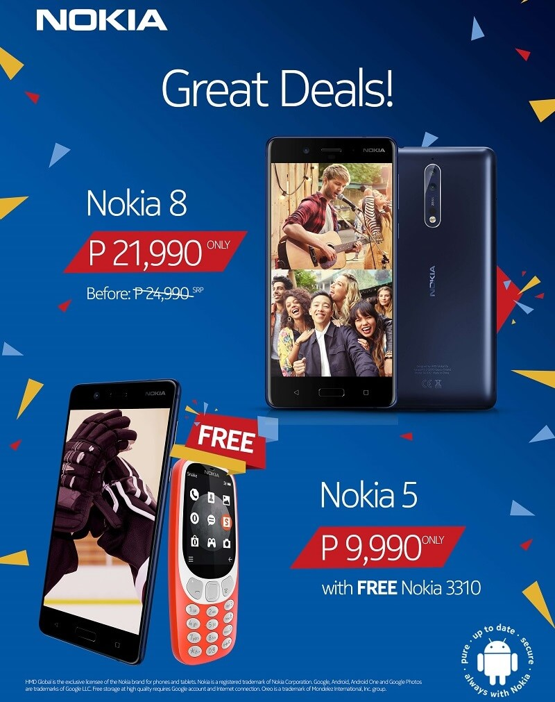 Nokia Announces Rainy Season Promo; Get Discounts and Freebies Until August 31