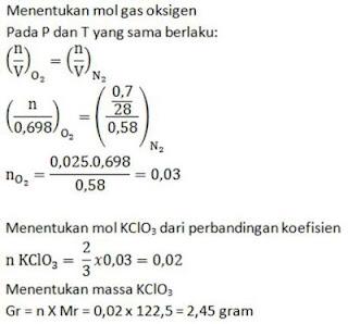 contoh soal stoikiometri