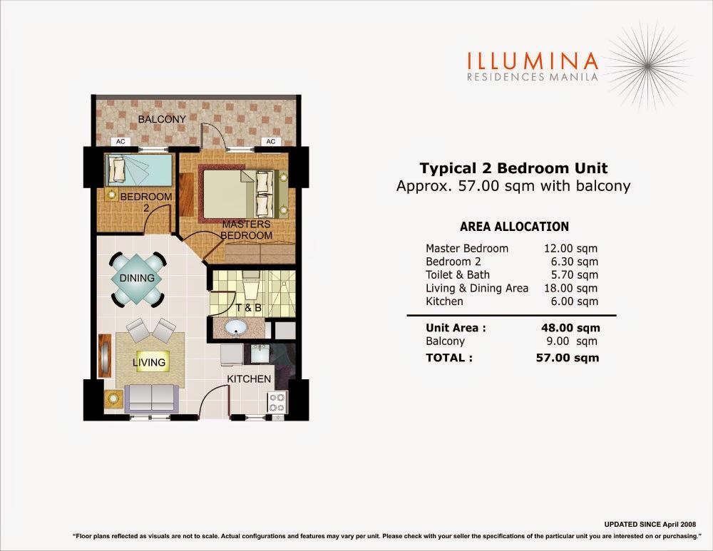Illumina Residences 2 Bedroom Unit