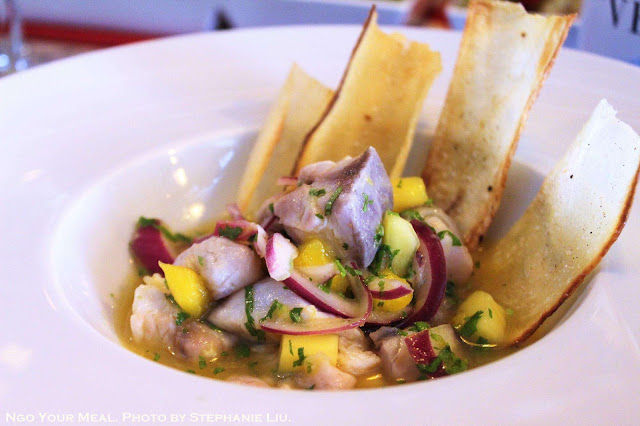 Ceraviche (Special Ceviche with Yucca Chips) at Cera 23 in Barcelona