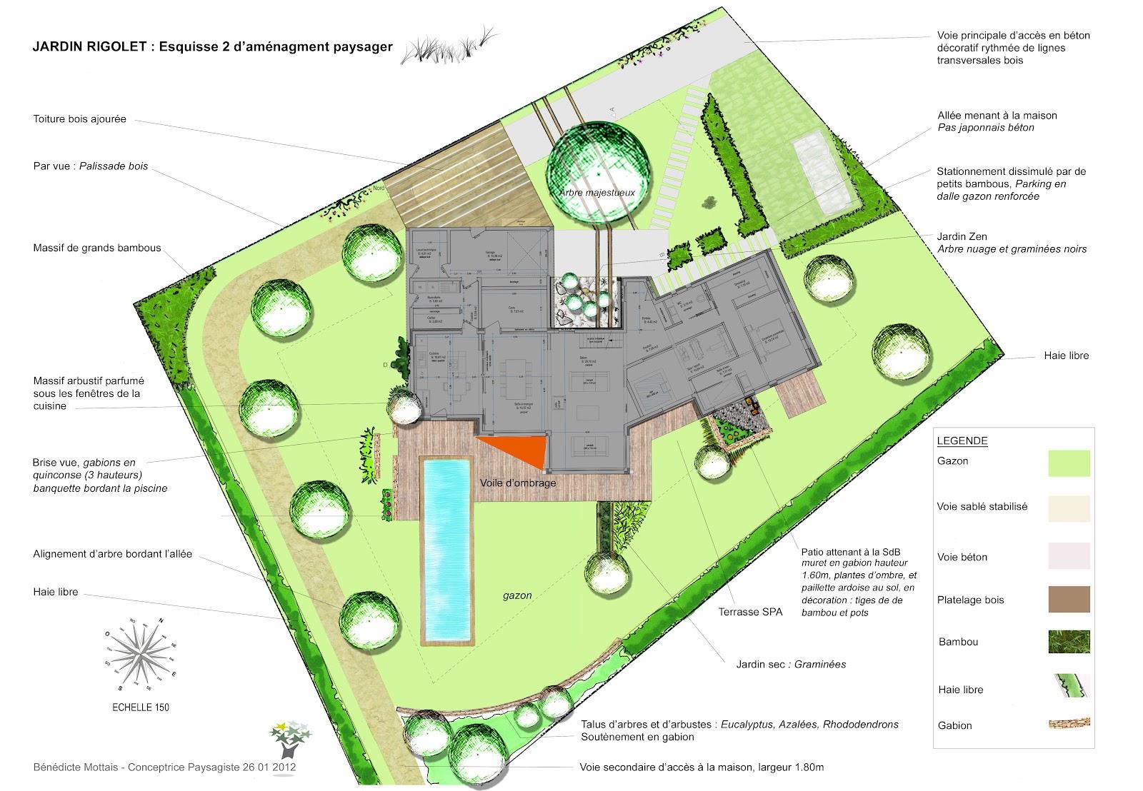 Bénédicte Mottais: Projet 10 Jardin contemporain - Treillières