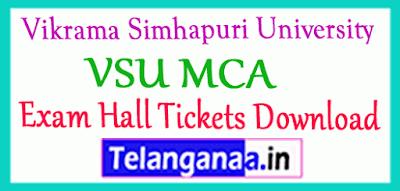 Vikrama Simhapuri University  MCA Exam Hall Tickets Download