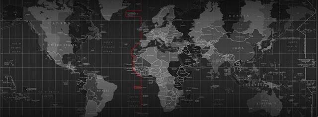 peta dunia dengan pembagian zona waktu 24 jam
