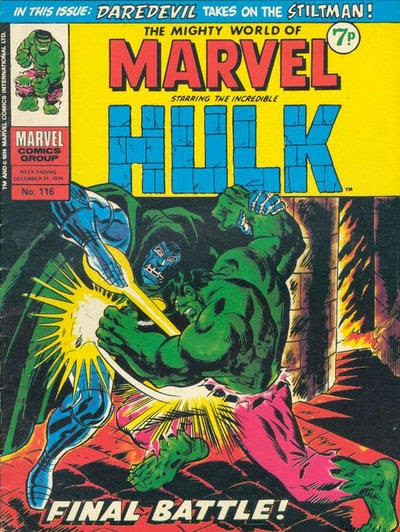 Mighty World of Marvel #116, Hulk v Dr Doom