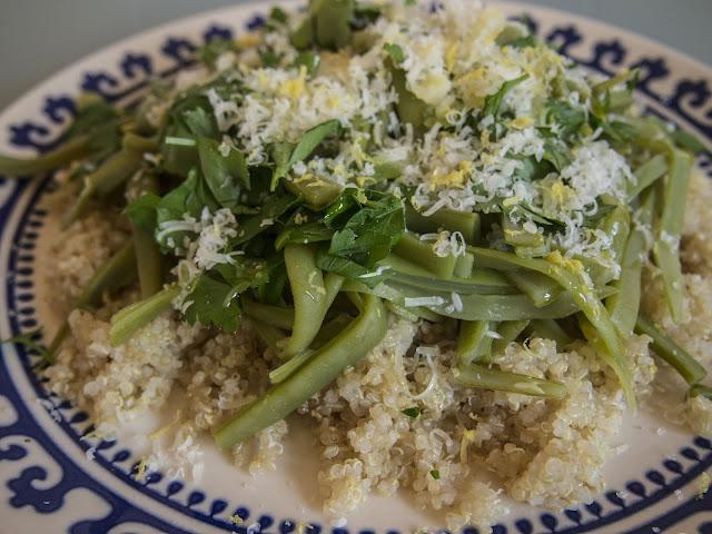 quinoa con judías verdes