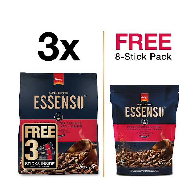 SUPER ESSENSO MICROGROUND COFFEE 3IN1