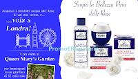 Logo Acqua alle Rose : vinci 10 soggiorni a Londra per 2 persone