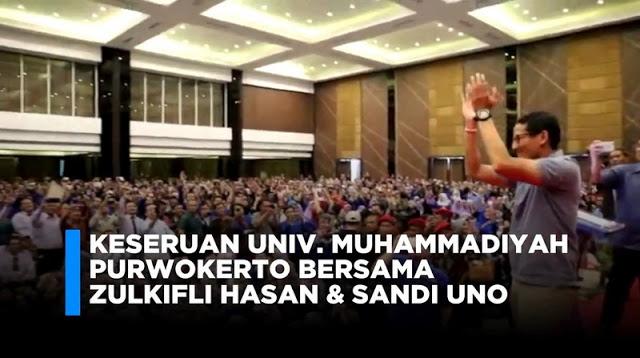 Sambut Sandiaga Uno, Purwokerto Pecaahhh