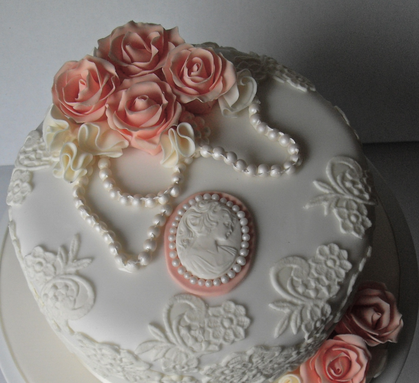 Vintage Lace Birthday Cake