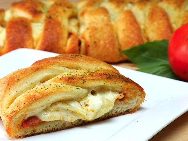 Pizza and Pepperoni Braid from Walking on Sunshine Recipes