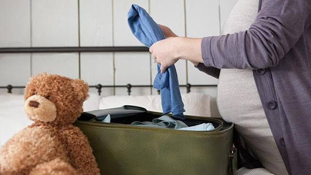 Mala da maternidade da mãe
