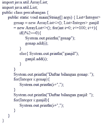 Pembahasan Dasar Bahasa Pemrograman JAVA : Logika Percabangan dan Perulangan Lengkap (Bagian 2)