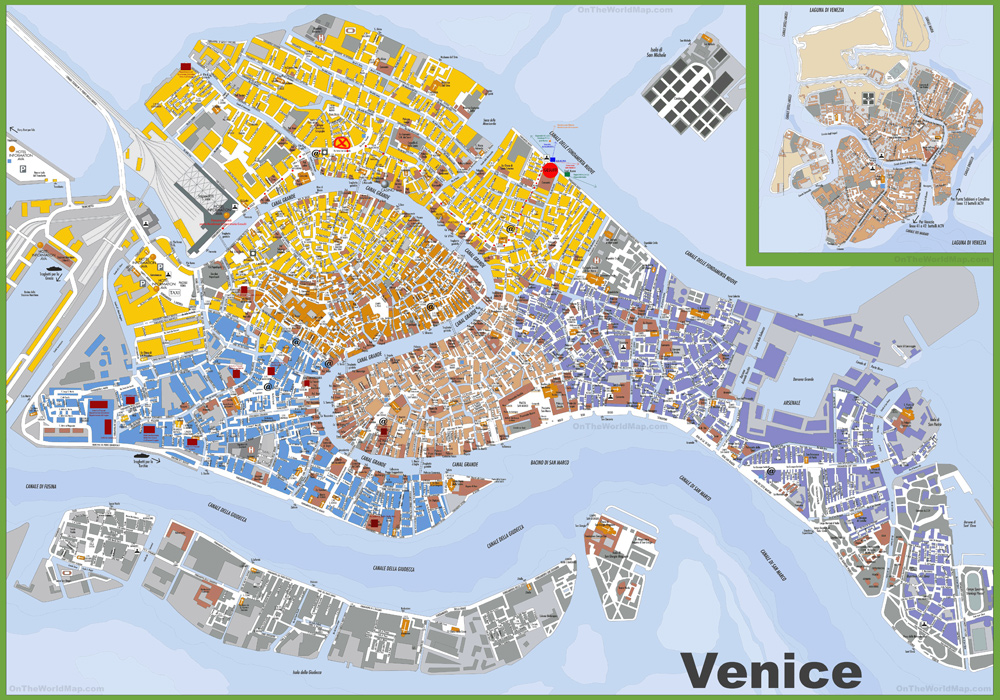 Agile image with printable map of venice