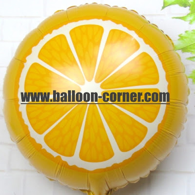 Balon Foil Potongan Buah Jeruk