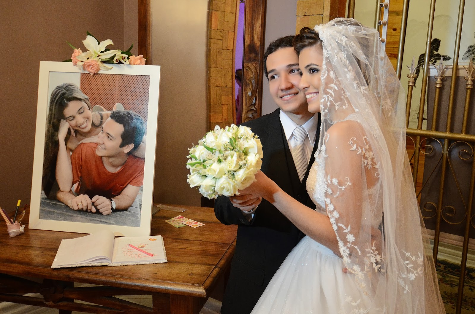 festa - recepção - noivos - bouquet - recado aos noivos