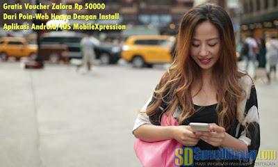 Dapatkan Voucher Zalora Rp 50000 dengan aplikasi mobileXpression | SurveiDibayar.com