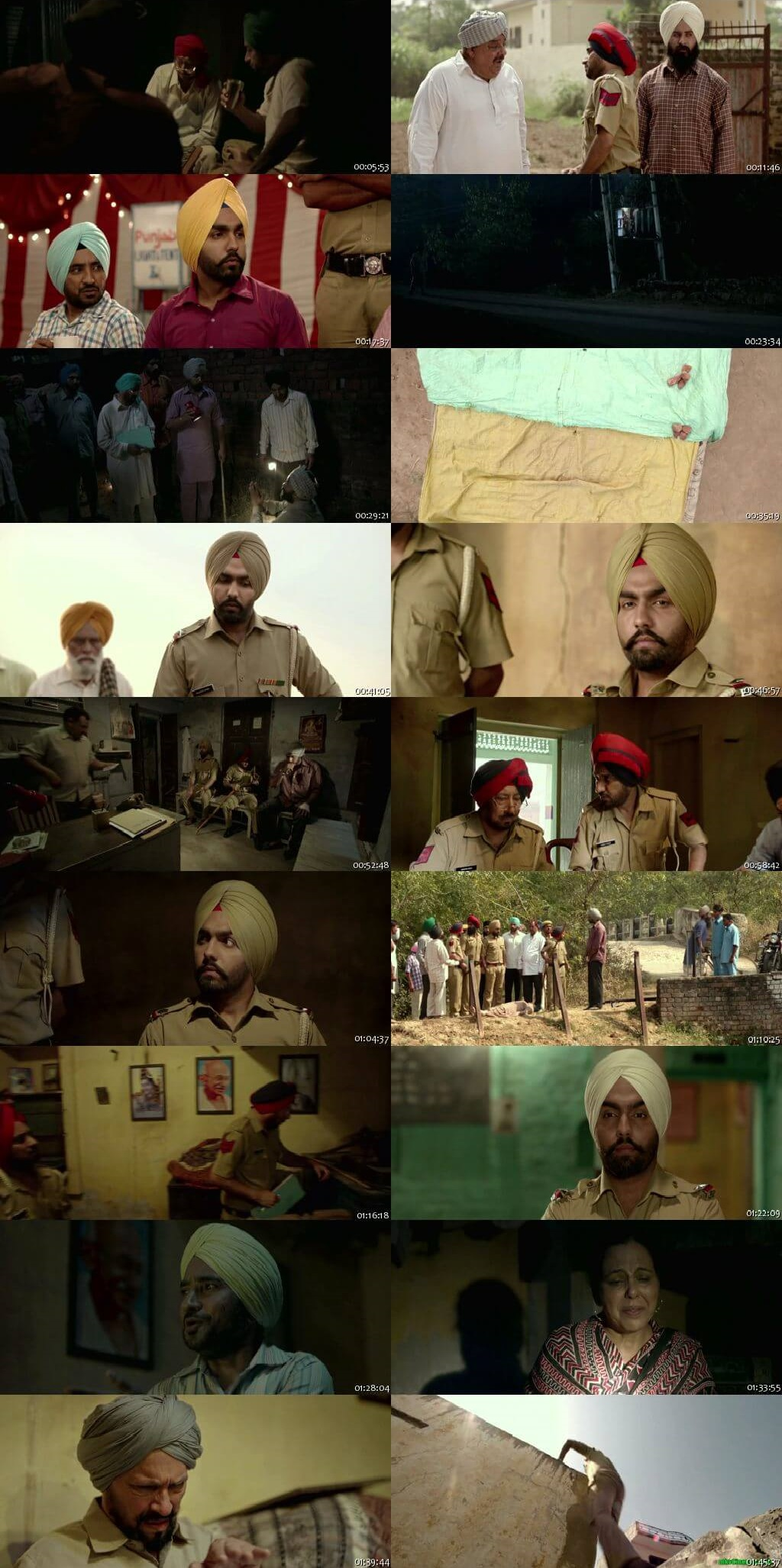 Screen Shot Of Saab Bahadar 2017 300MB HDRip 480P Full Punjabi Movie Watch Online Free Download