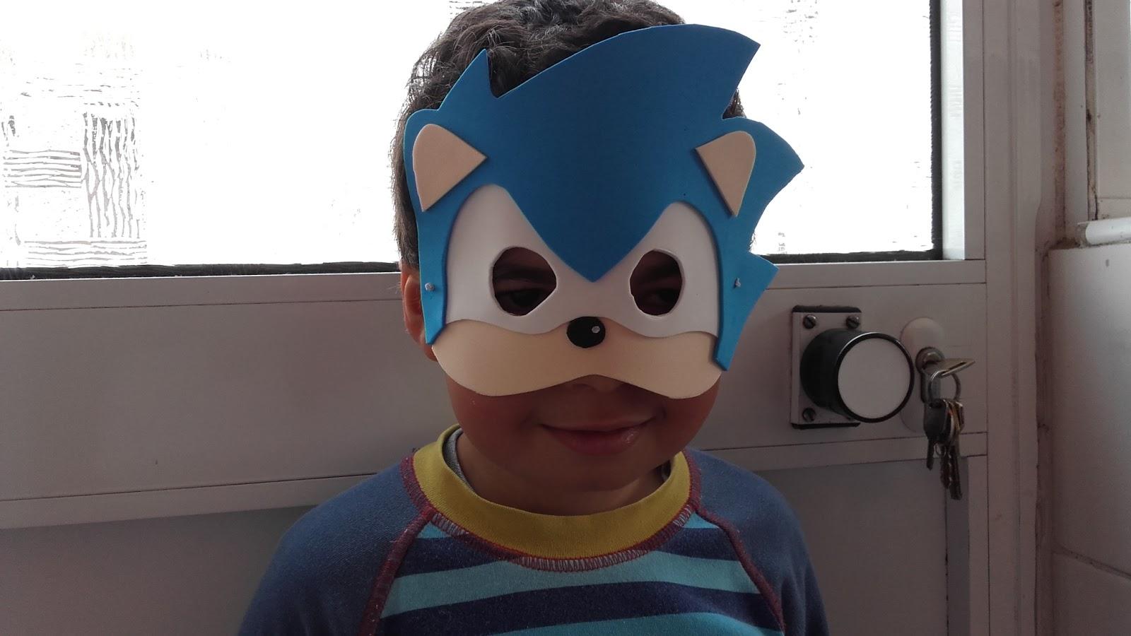 Luzia Arte Em Eva E Culinaria Como Fazer Mascara Do Sonic
