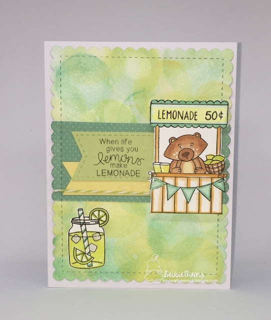 When life gives you lemonade by Debbie features Freshly Squeezed by Newton's Nook Designs; #newtonsnook