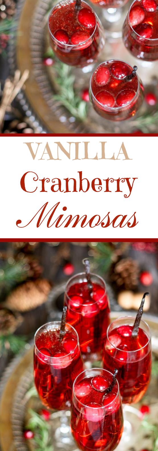 Vanilla Cranberry Mimosa #alcohol #drinks