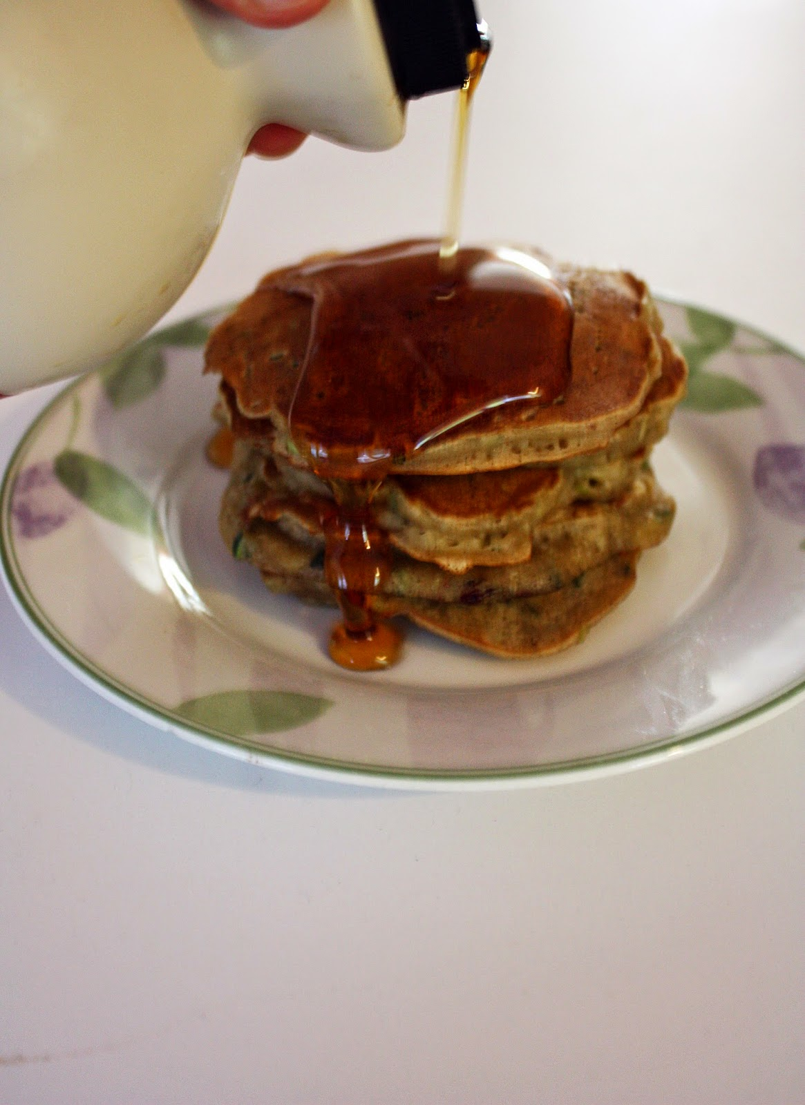 vegan olive oil zucchini bread pancakes maple syrup