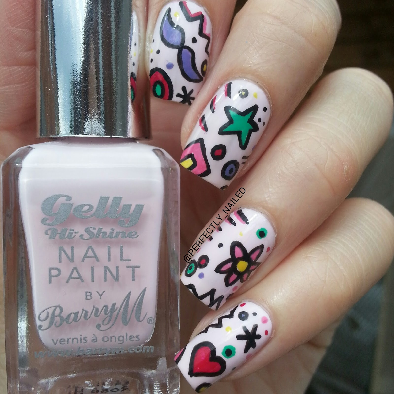 Doodle Nail Art Designs Back To School