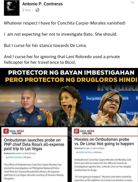 DLSU Professor On Bato Probe: 'Whatever Respect I Have For Conchita Carpio-Morales Vanished'