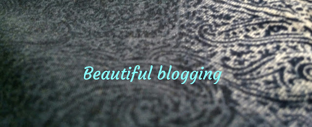 Blogging, beautiful