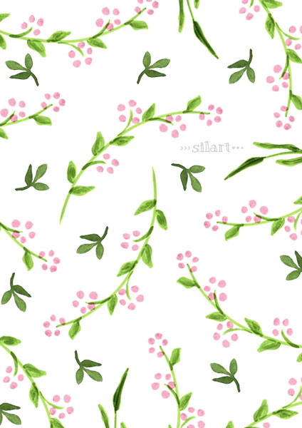 Rosa Ranken, watercolor pattern