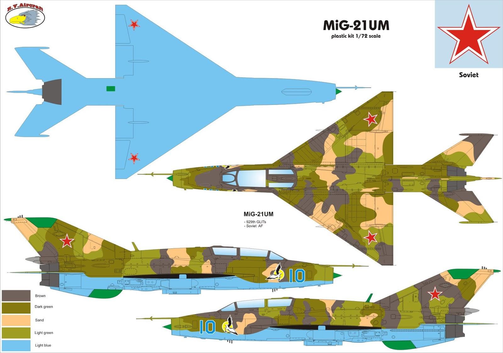 .:R.V.Aircraft:. MiG-21UM - 1_72_aircraft_news